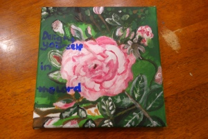 Painted Pink Rose for Debbie